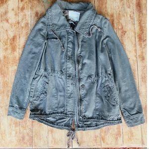 ANTHROPOLOGIE Khaki/Olive Cargo Jacket Size Small